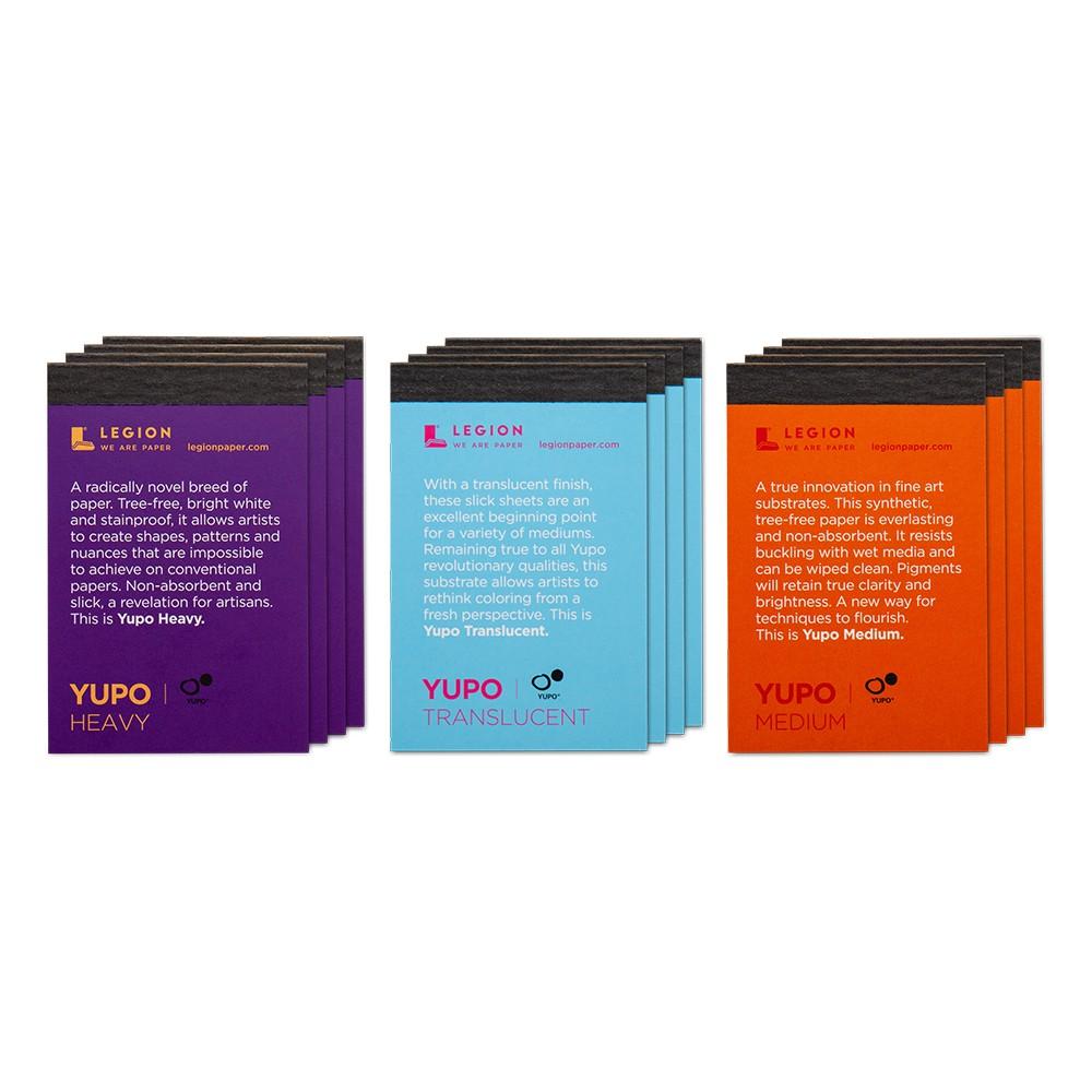 Yupo : Watercolour Paper Pad : 6 3x9 5cm : Sample Set of 12 : 1 Per Order
