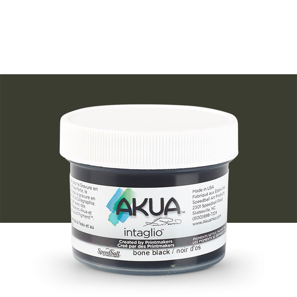 Akua : Intaglio Ink : 2oz : 59ml : Bone Black