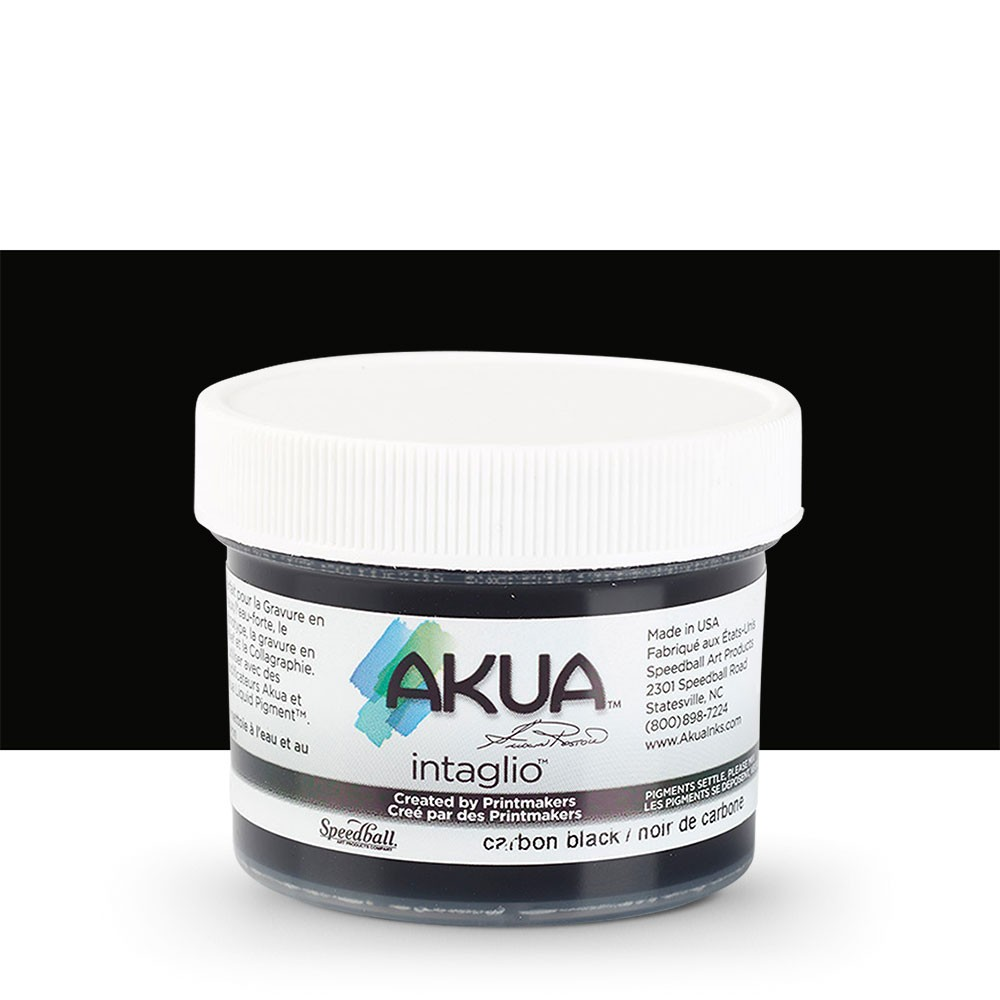 Akua : Intaglio Ink : 2oz : 59ml : Carbon Black