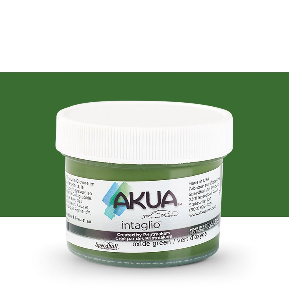 Akua : Intaglio Ink : 2oz : 59ml : Green Oxide