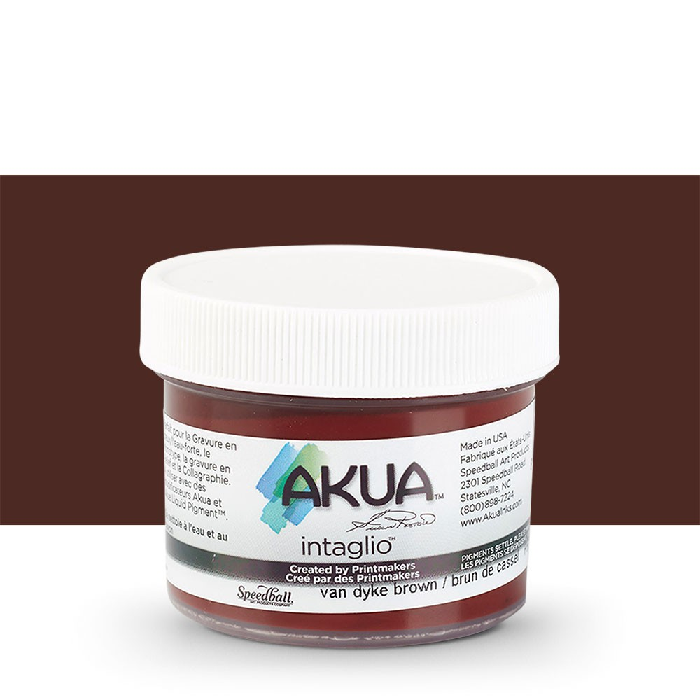 Akua : Intaglio Ink : 2oz : 59ml : Vandyke Brown