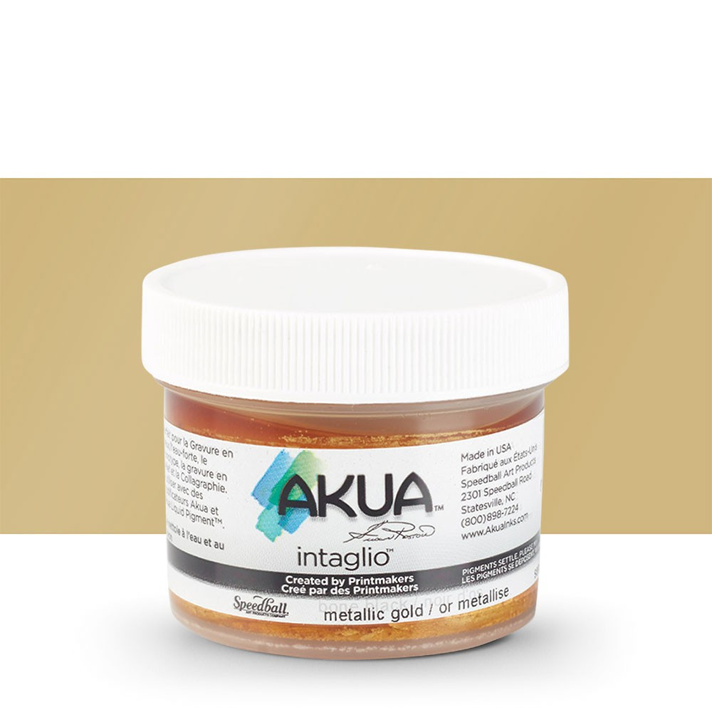 Akua : Intaglio Ink : 2oz : 59ml : Metallic Gold