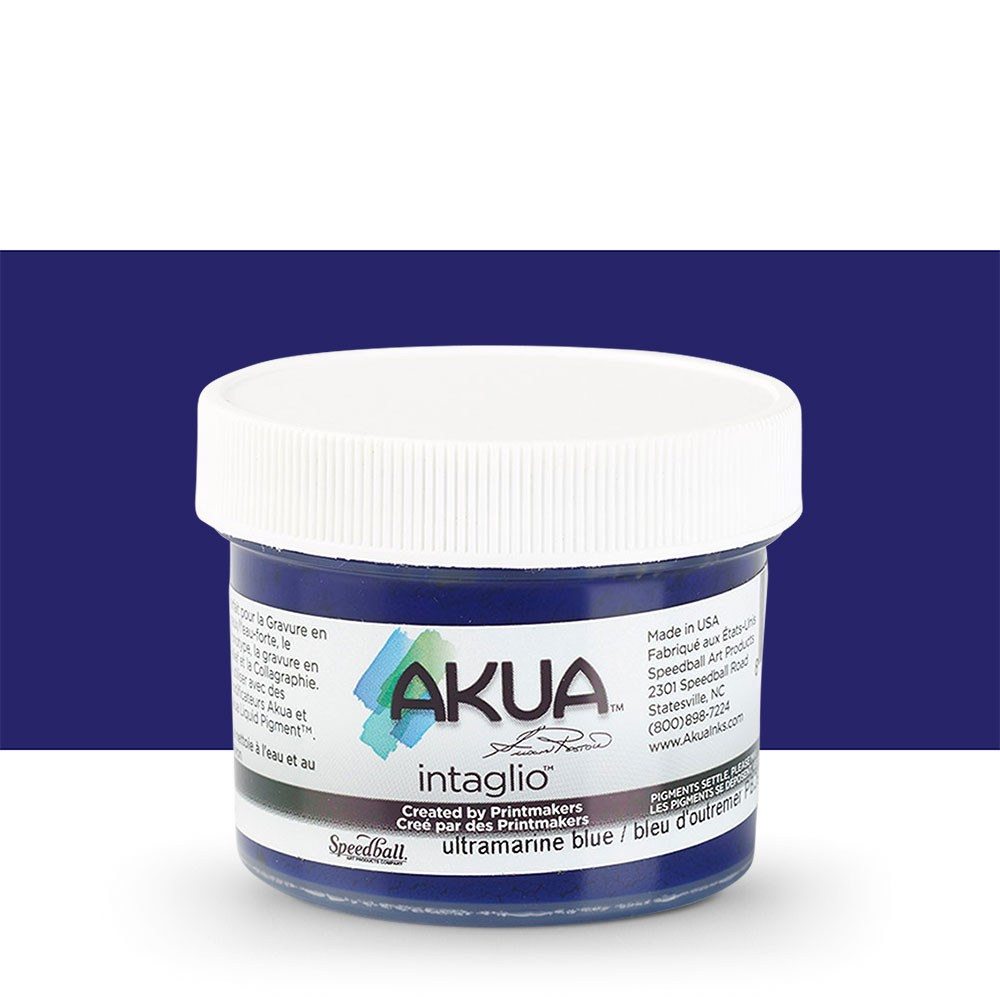 Akua : Intaglio Ink : 2oz : 59ml : Ultramarine Blue