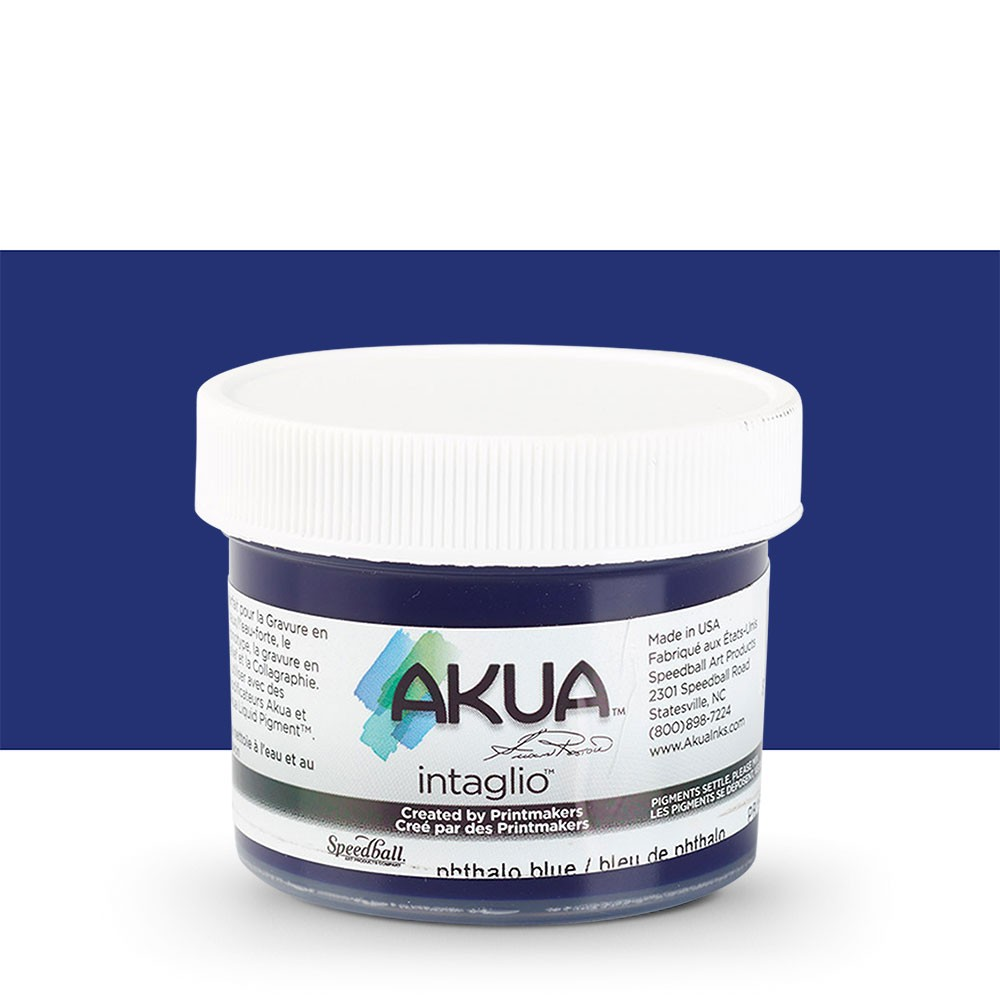 Akua : Intaglio Ink : 2oz : 59ml : Phthalo Blue