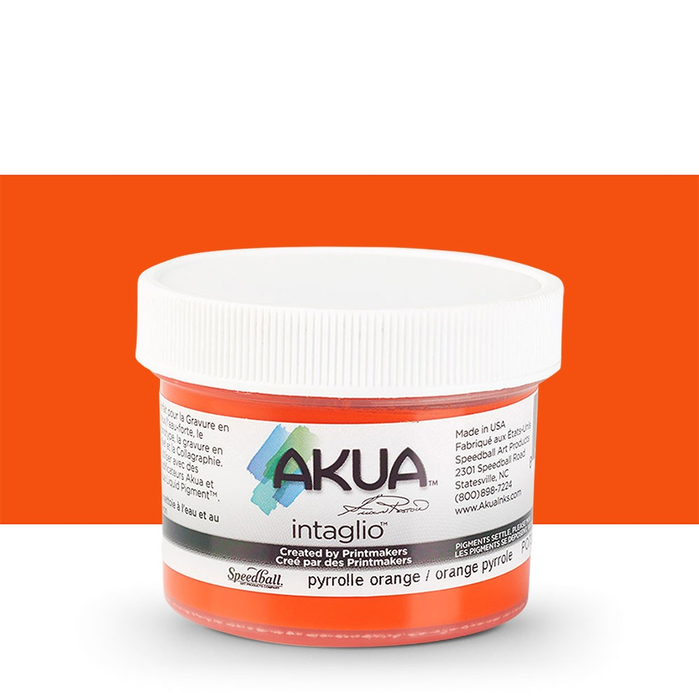 Akua : Intaglio Ink : 2oz : 59ml : Pyrrole Orange