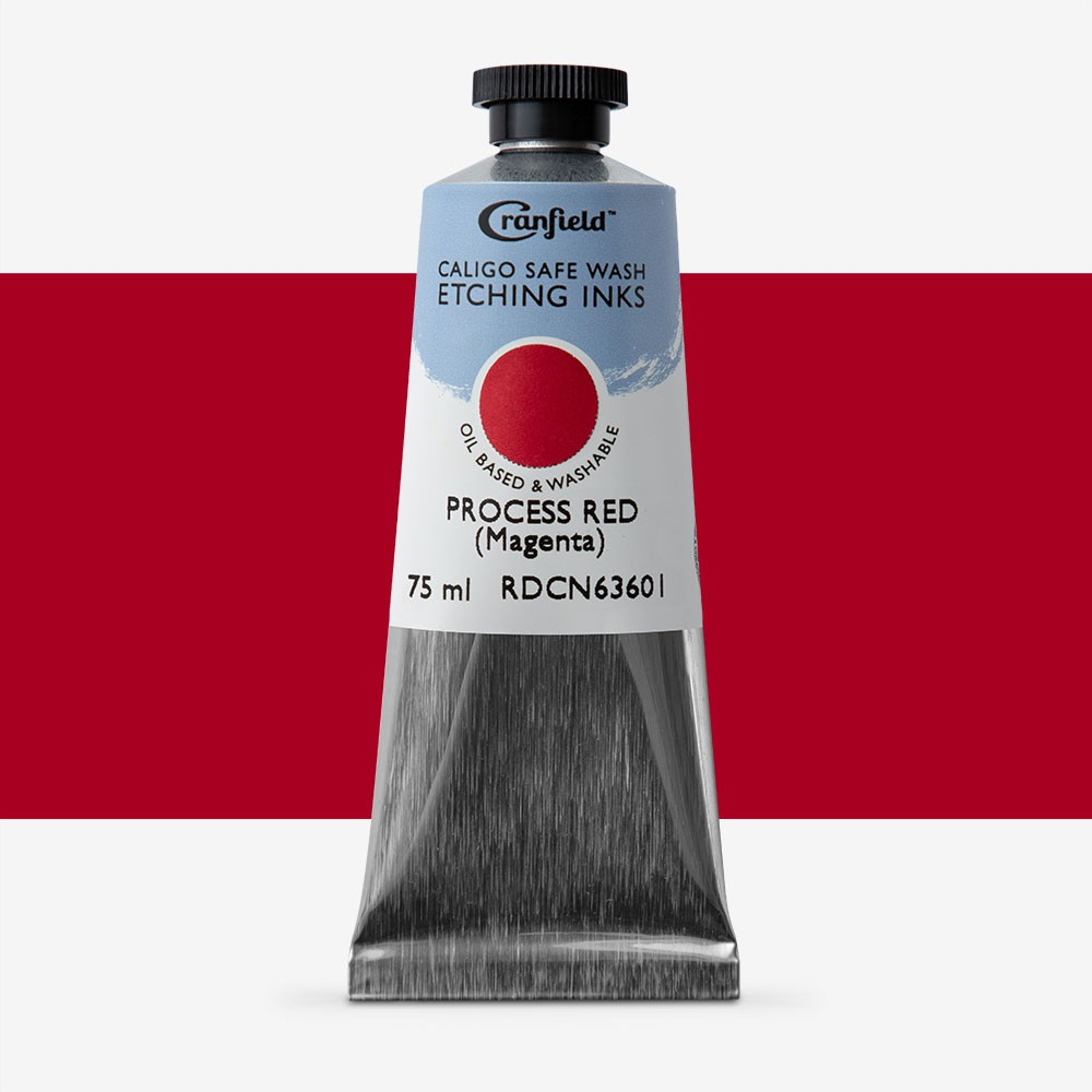 Cranfield : Caligo : Safe Wash : Etching Ink : 75ml : Process Red (Magenta)