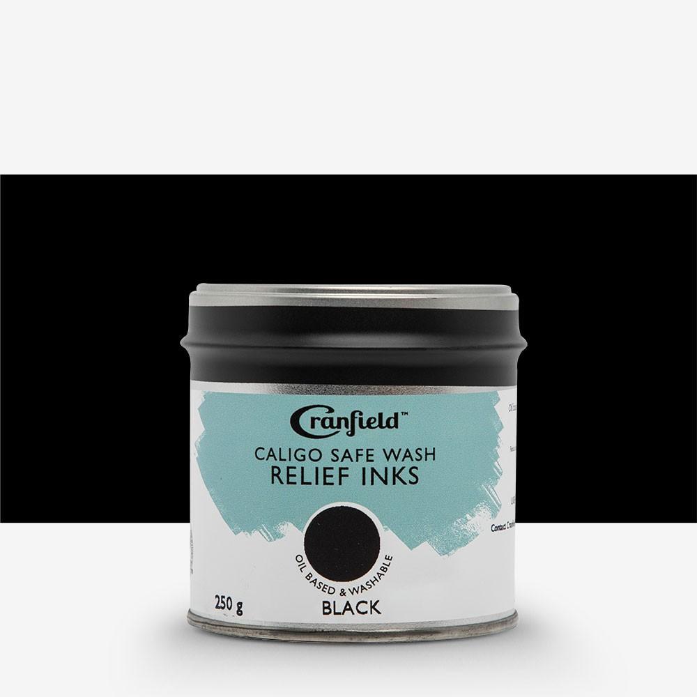 Caligo : Safe Wash : Relief Ink : 250g Tin : Black
