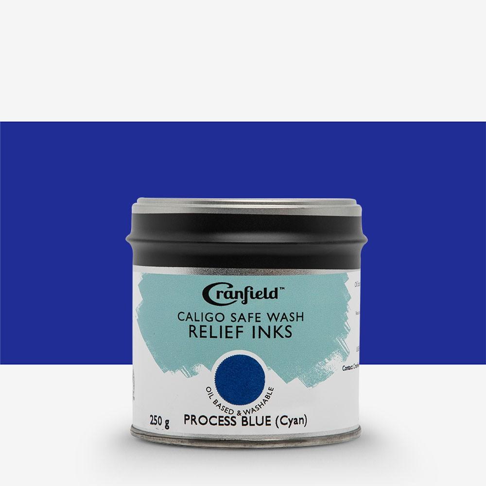 Caligo : Safe Wash : Relief Ink : 250g Tin : Process Blue (Cyan)