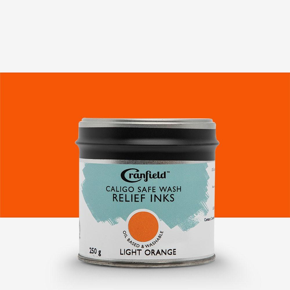Cranfield : Caligo : Safe Wash : Relief Ink : 250g Tin : Light Orange
