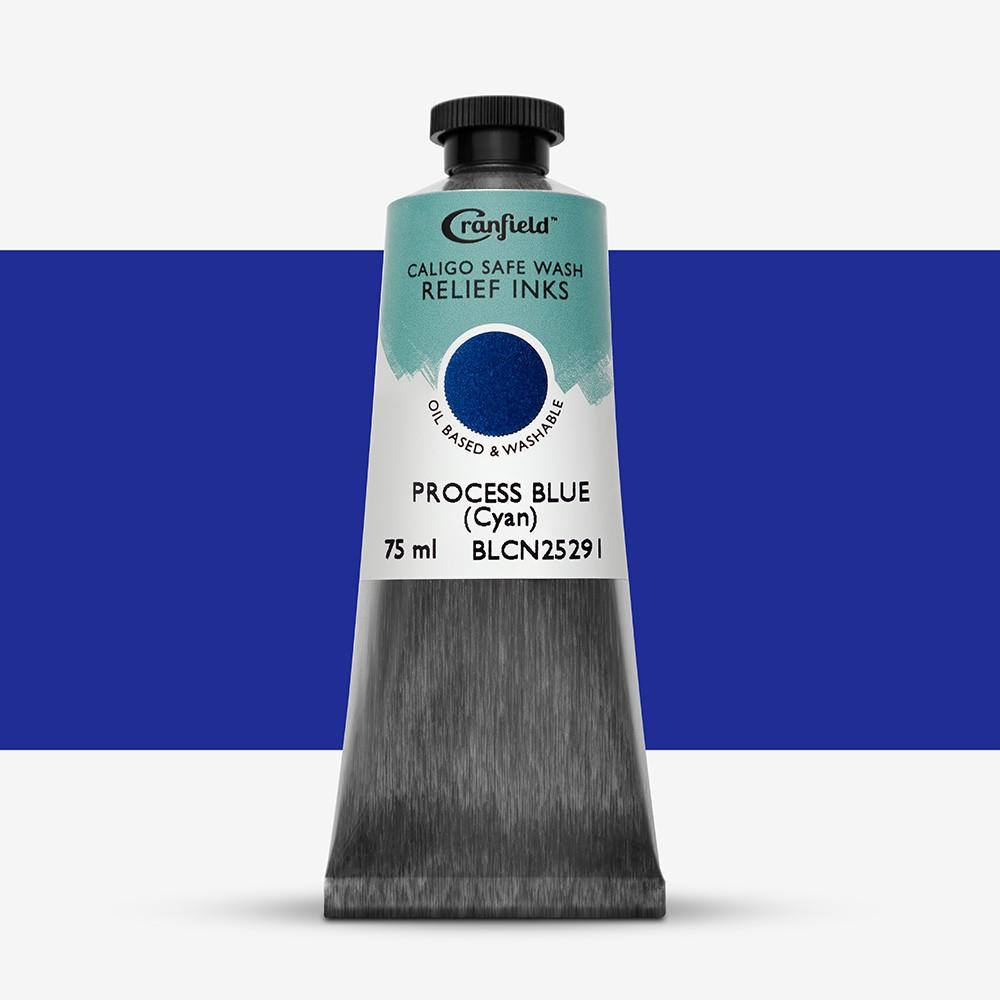 Cranfield : Caligo : Safe Wash : Relief Ink : 75ml : Process Blue (Cyan)