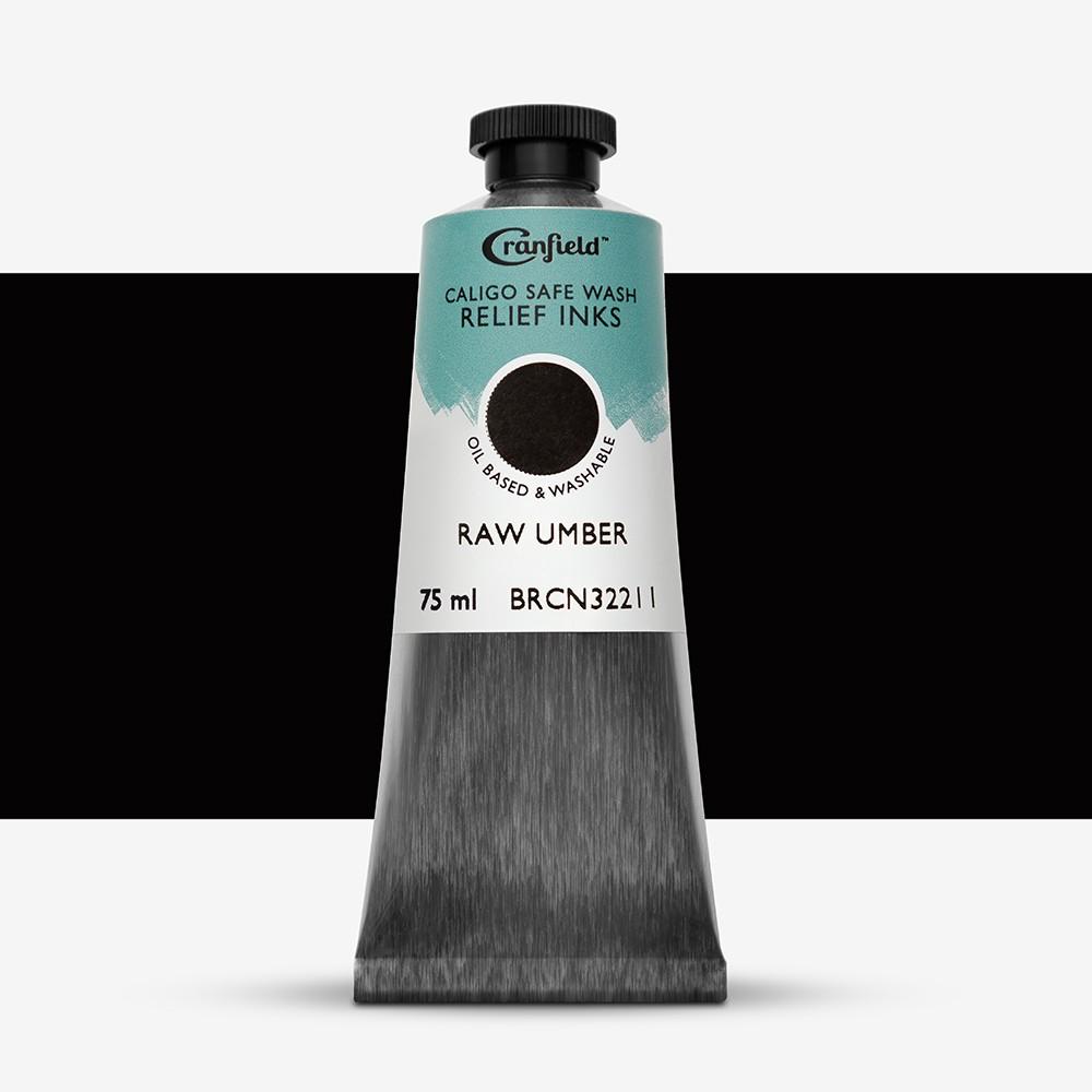 Caligo : Safe Wash : Relief Ink : 75ml : Raw Umber