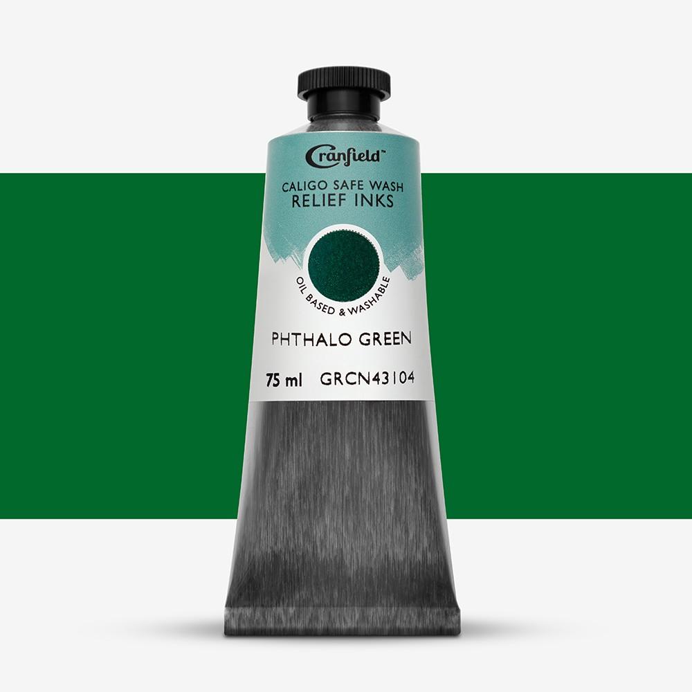 Caligo : Safe Wash : Relief Ink : 75ml : Phthalo Green