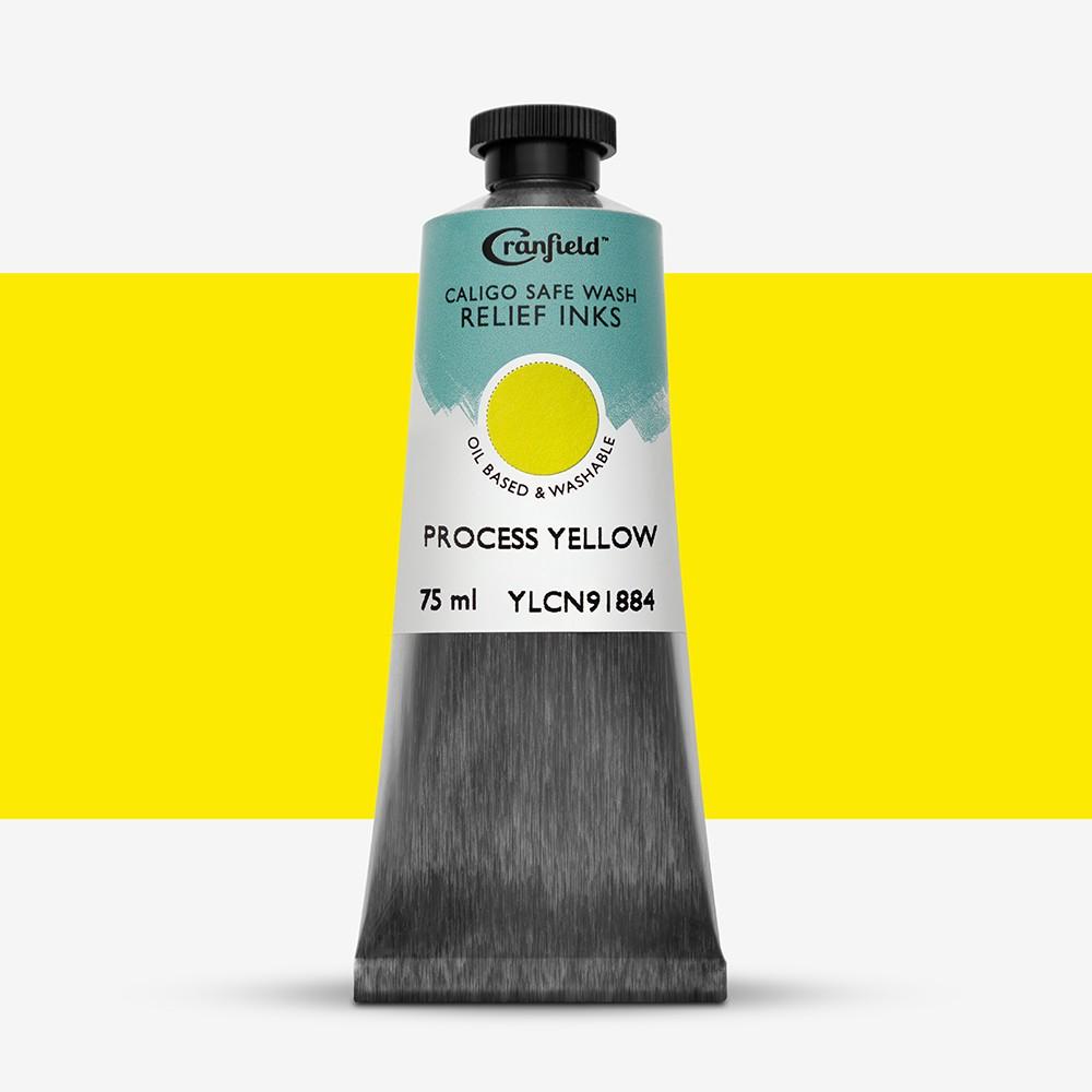 Caligo : Safe Wash : Relief Ink : 75ml : Process Yellow