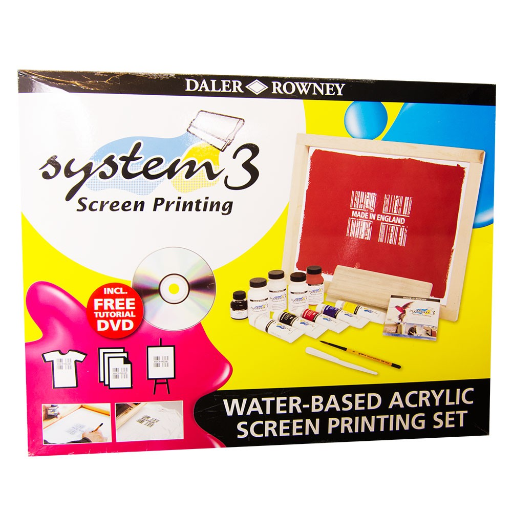 Daler Rowney : Screen Printing Set : A3 Screen, Colours, Medium & More