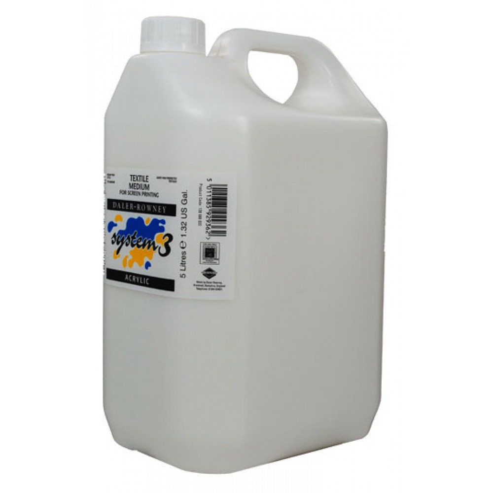 Daler Rowney Textile Printing Medium 5 Litre : Screen Printing Medium : Ship By Road Only