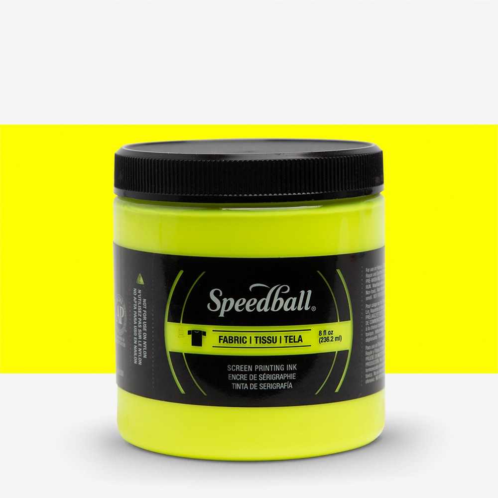 Speedball : Fluorescent Fabric Screen Printing Ink : 8oz : Yellow