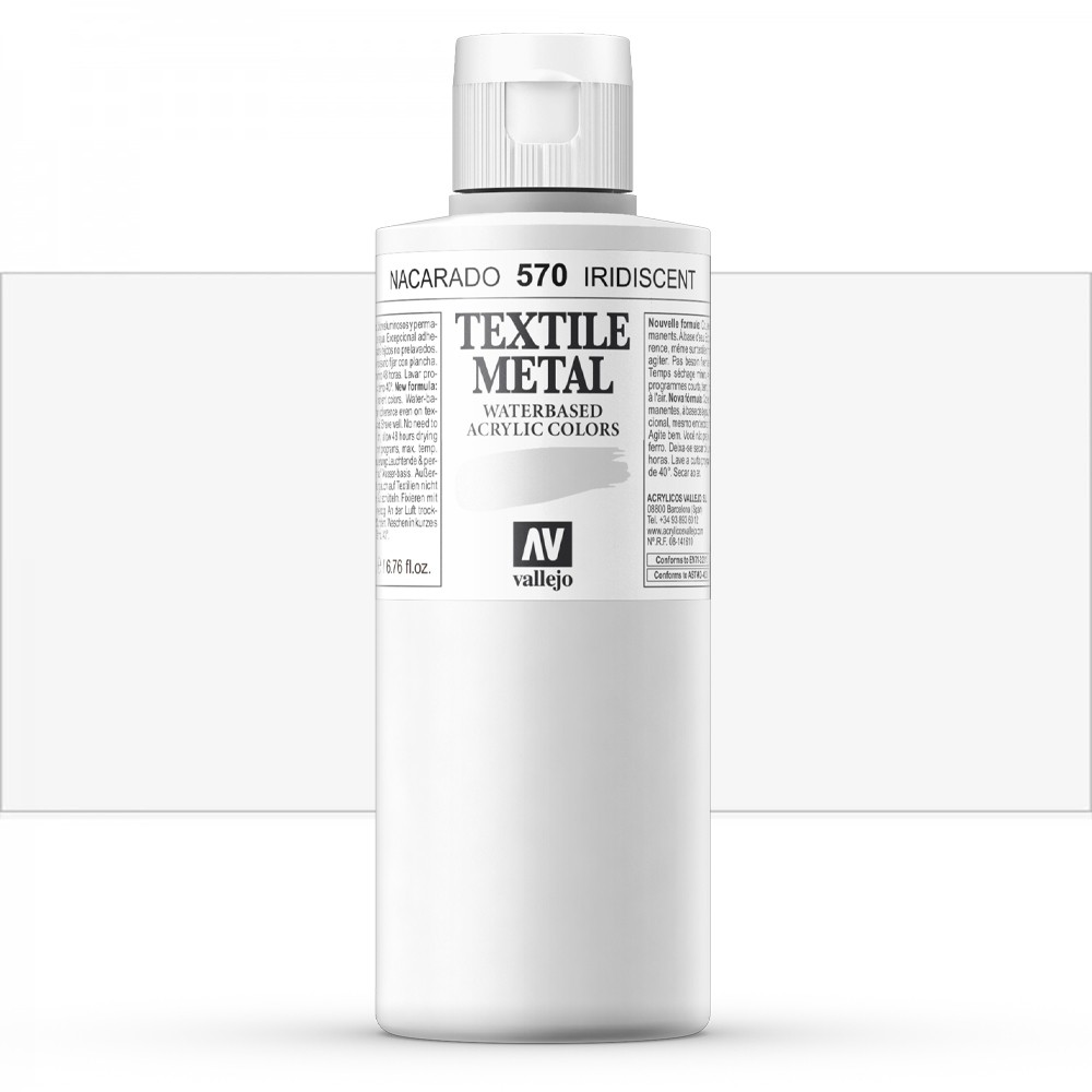 Vallejo : Textile Paint : 200ml : Metallic Iridescent