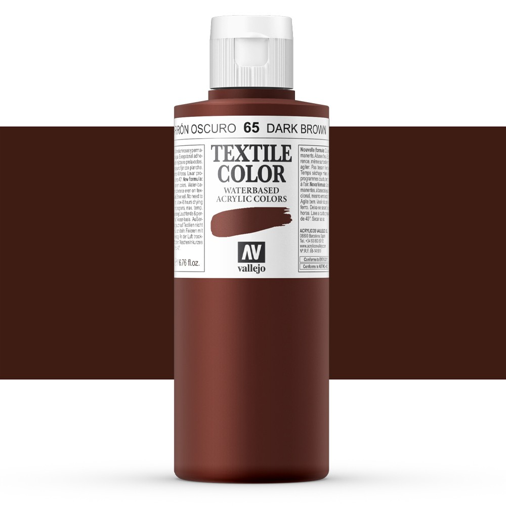 Vallejo : Textile Paint : 200ml : Velvet Brown