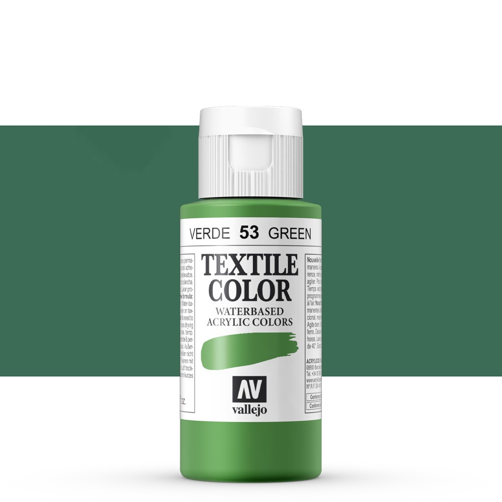 Vallejo : Textile Paint : 60ml : Green