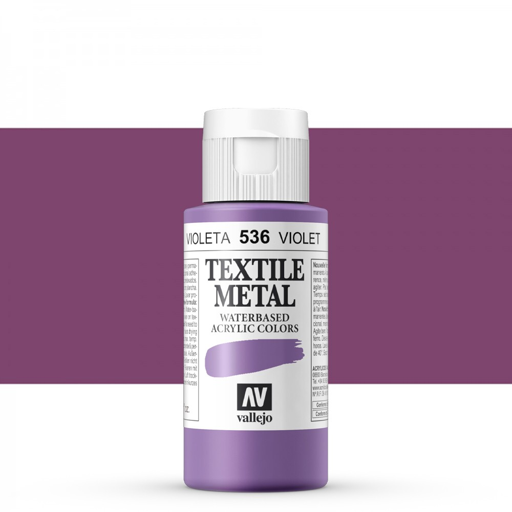Vallejo : Textile Paint : 60ml : Metallic Violet Pearl