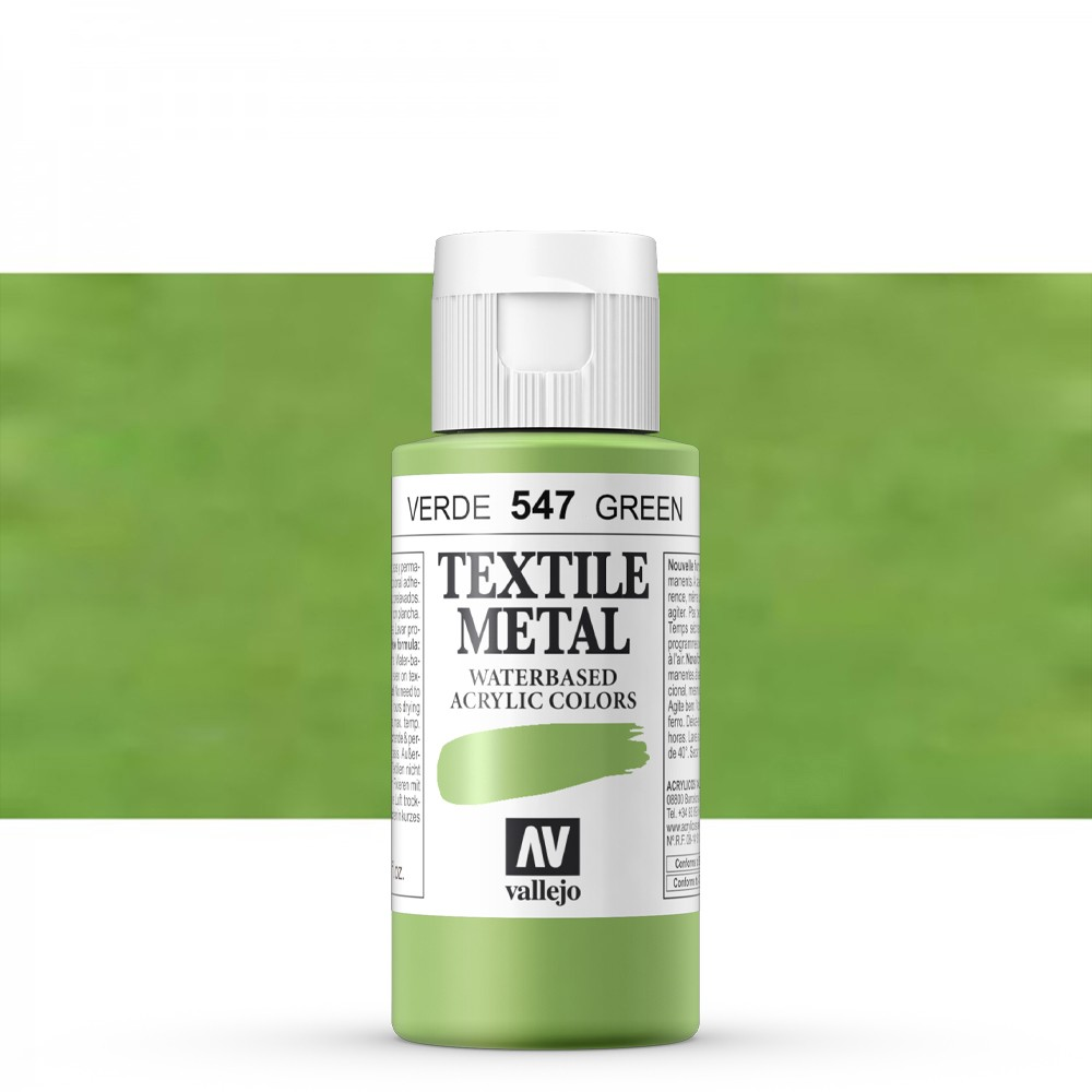 Vallejo : Textile Paint : 60ml : Metallic Viridian
