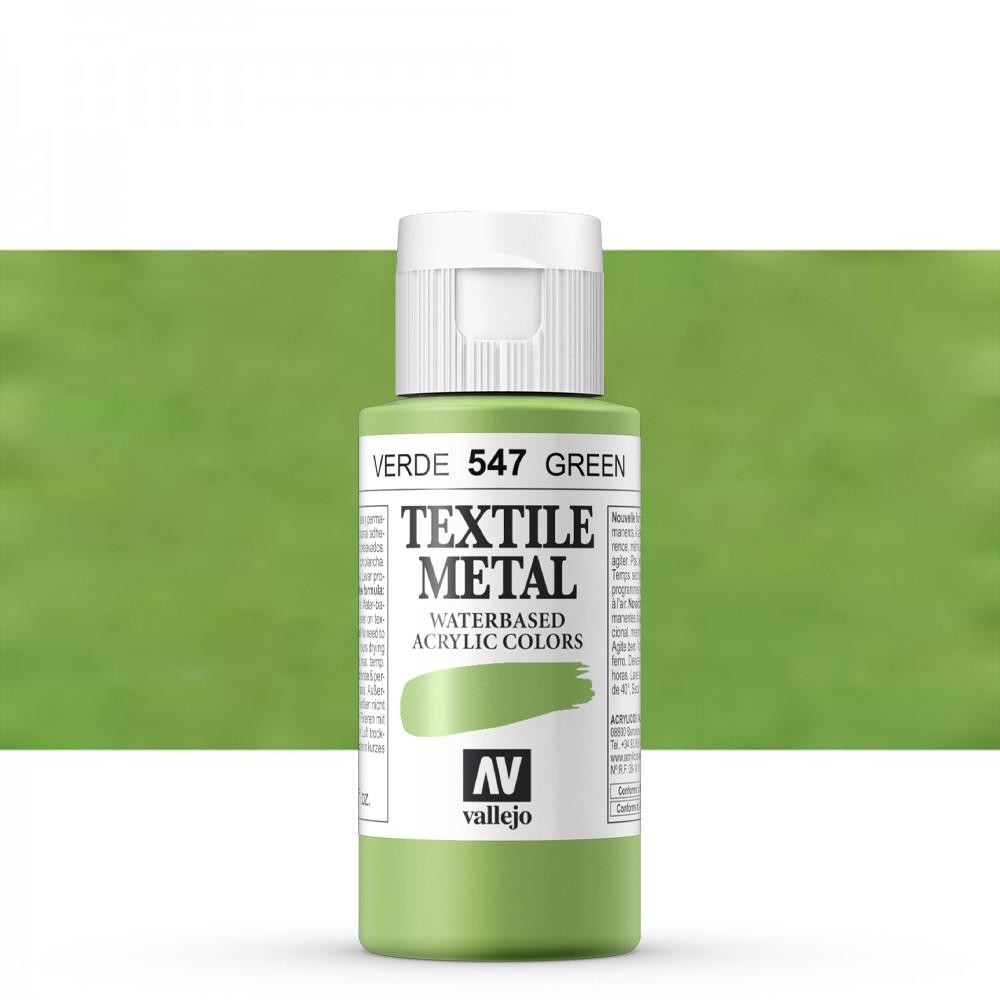 Vallejo : Textile Paint : 60ml : Metallic Viridian