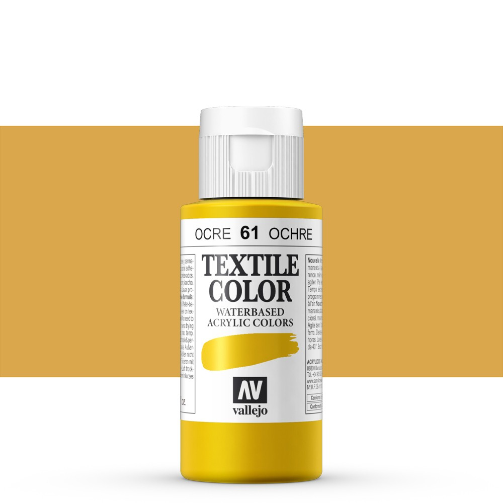 Vallejo : Textile Paint : 60ml : Yellow Ochre