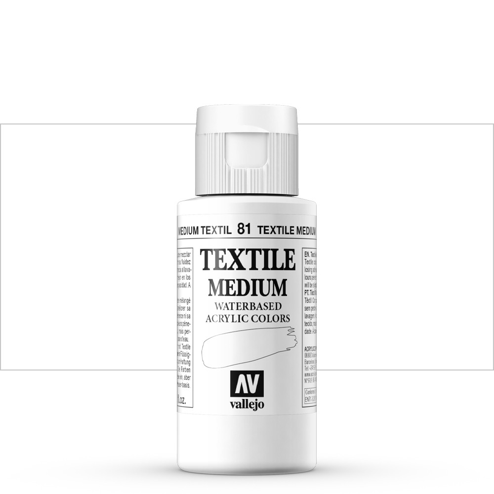 Vallejo : Textile Paint Medium : 60ml
