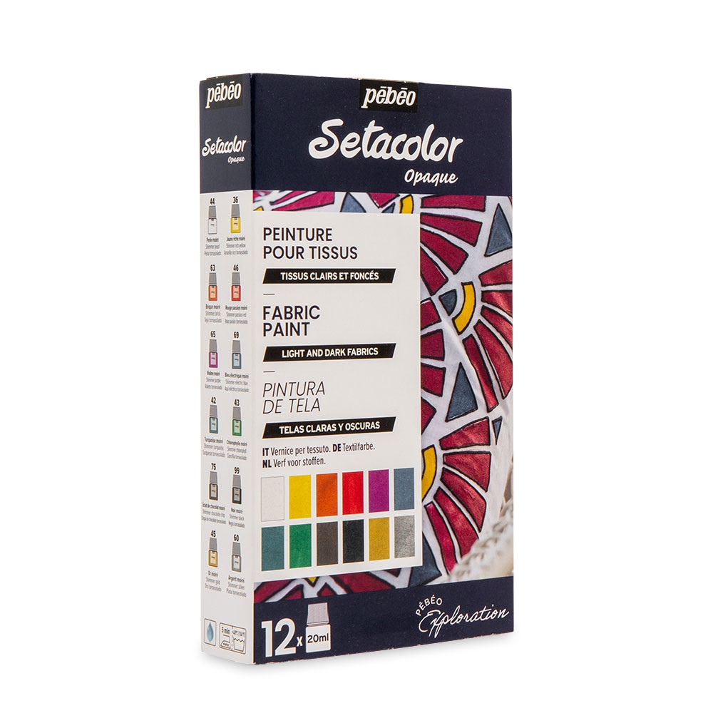 Pebeo : SETACOLOUR DISCOVERY SET 12 x 20ml