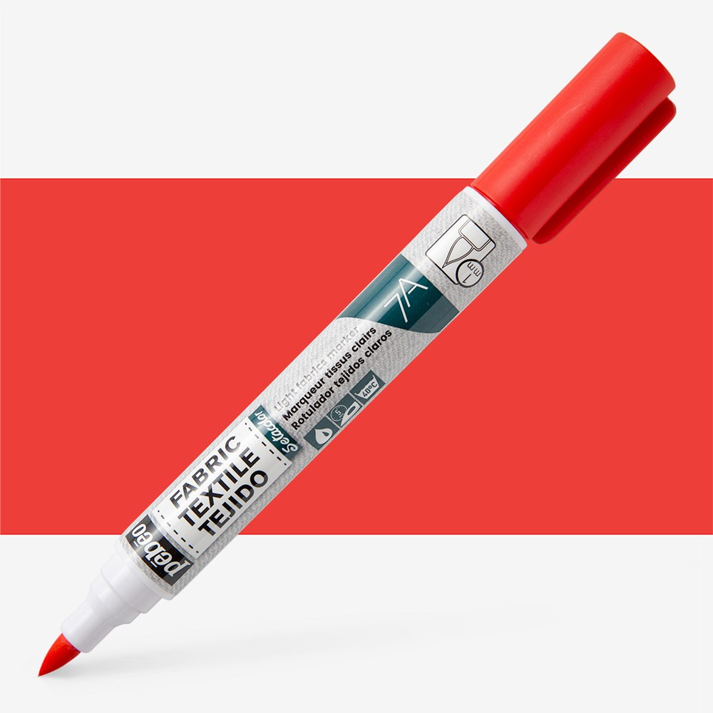Pebeo Setaskrib+ Fabric Marker Brush Tip Red