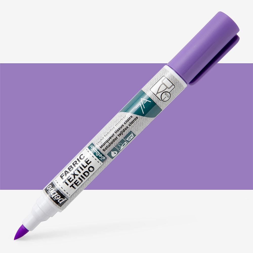 Pebeo Setaskrib+ Fabric Marker Brush Tip Fluorescent Violet