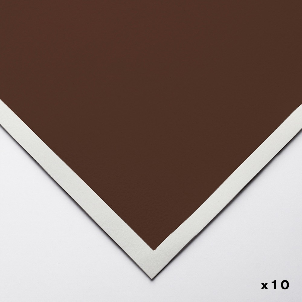 Art Spectrum : ColourFix Pastel Paper : 50x70cm : Burnt Umber : Pack of 10