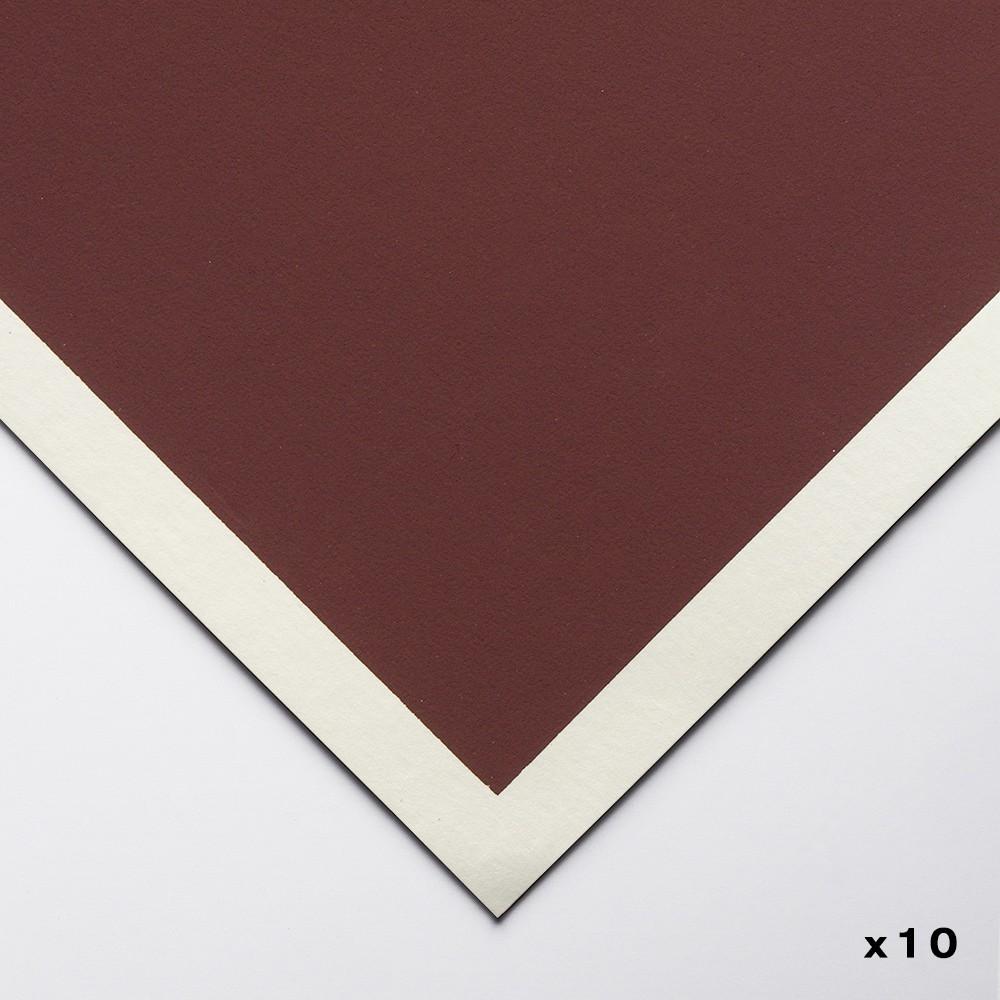 Art Spectrum : Colourfix Original : Pastel Paper : 50x70cm : Burgundy : Pack of 10