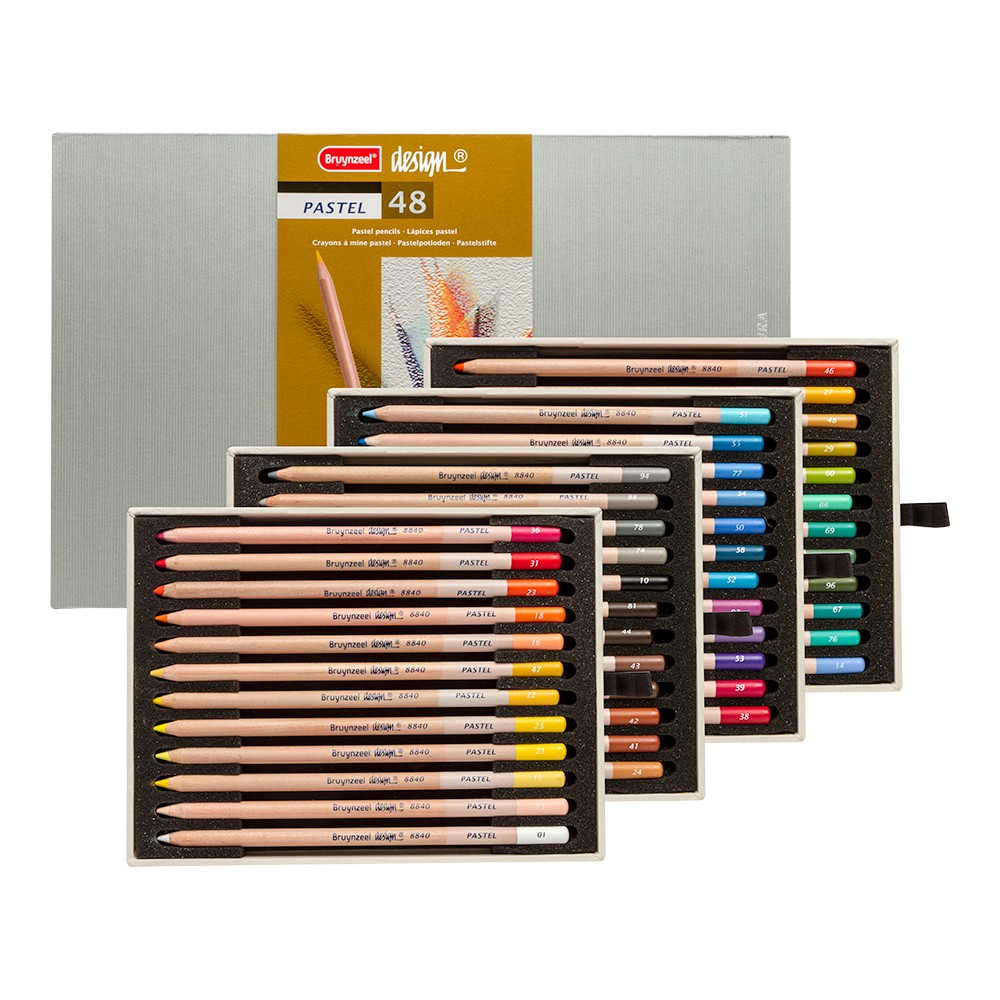 Bruynzeel : Design : Pastel Pencil : Box of 48 : Assorted Colours