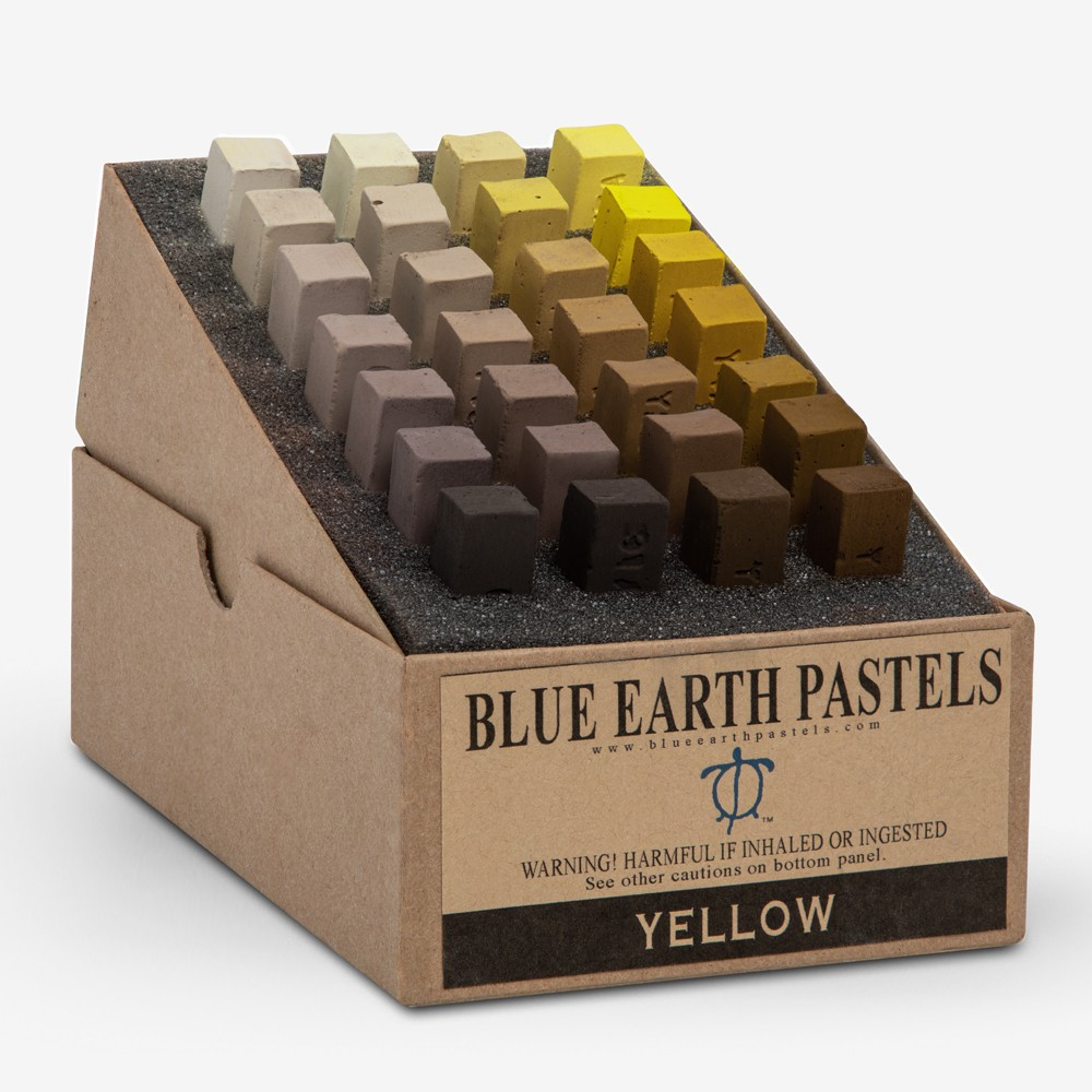 Blue Earth : Soft Pastel : 28 Stick Box Set : Yellow