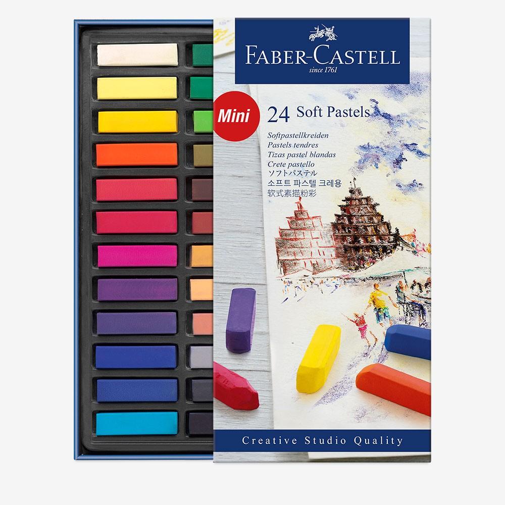Faber Castell : Square Soft Pastel : Half Stick : Set of 24