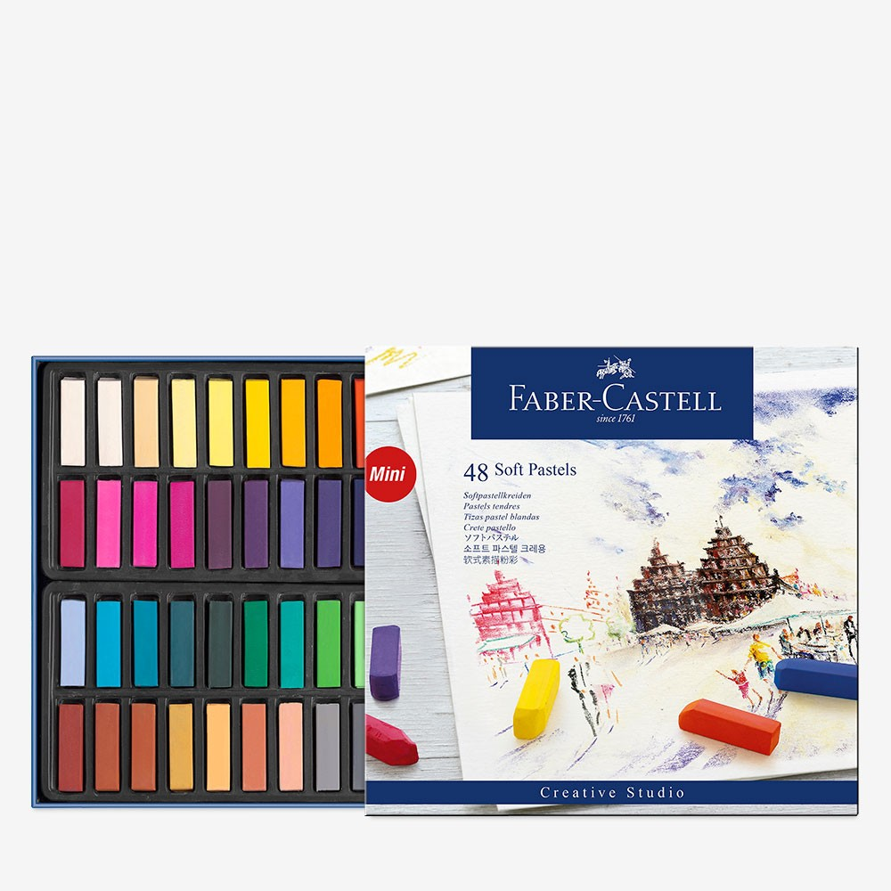 Faber Castell : Square Soft Pastel : Half Stick : Set of 48