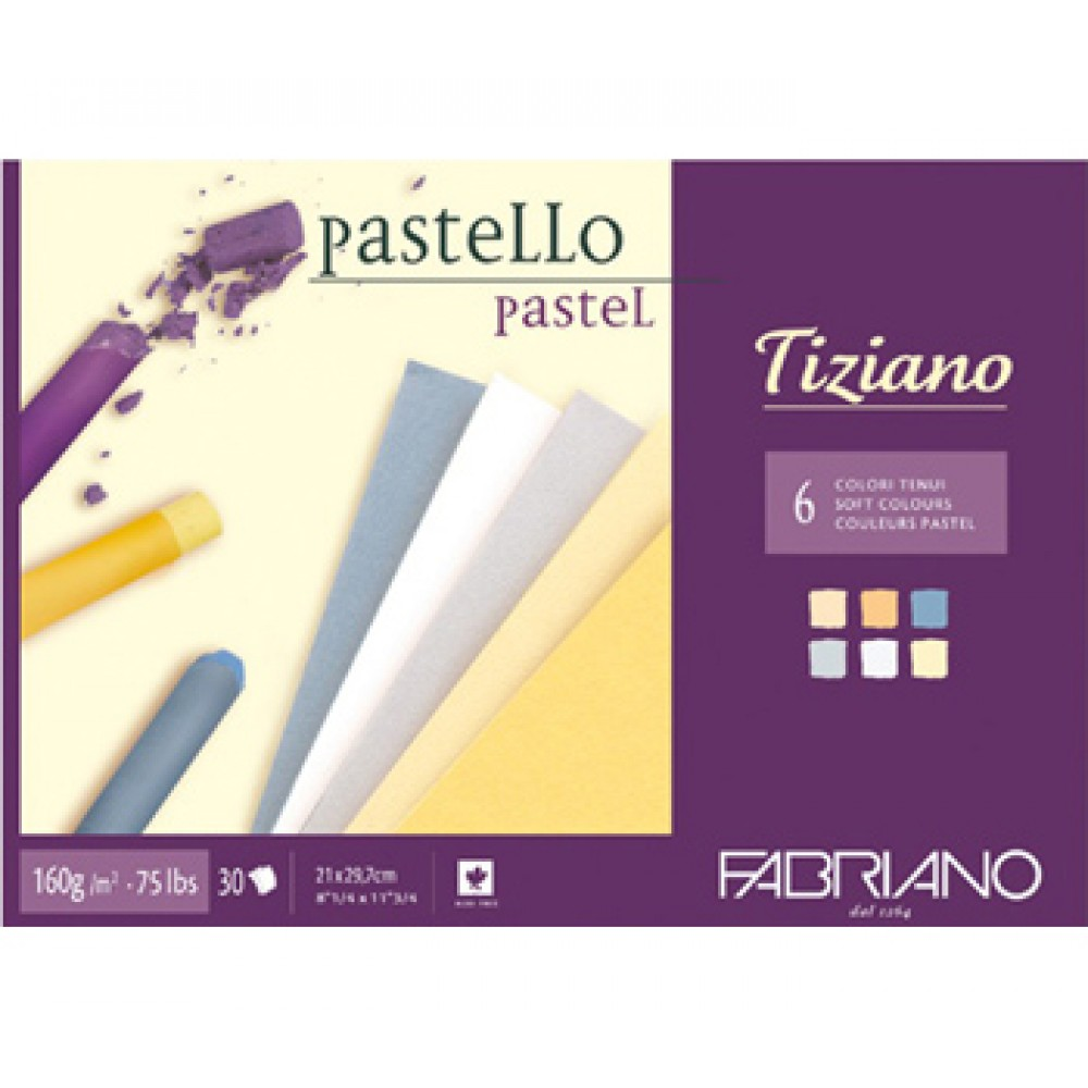 Fabriano : Tiziano : Pastel Pad : A3 : 30 Sheets : 6 Assorted Soft Colours