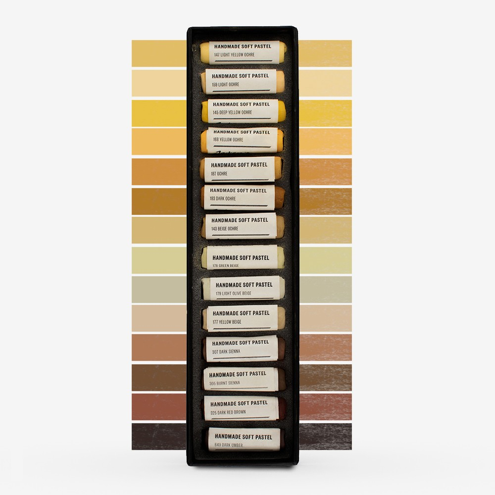 Jackson's : Handmade Soft Pastel : 14 Colours : Woodland Brown Set