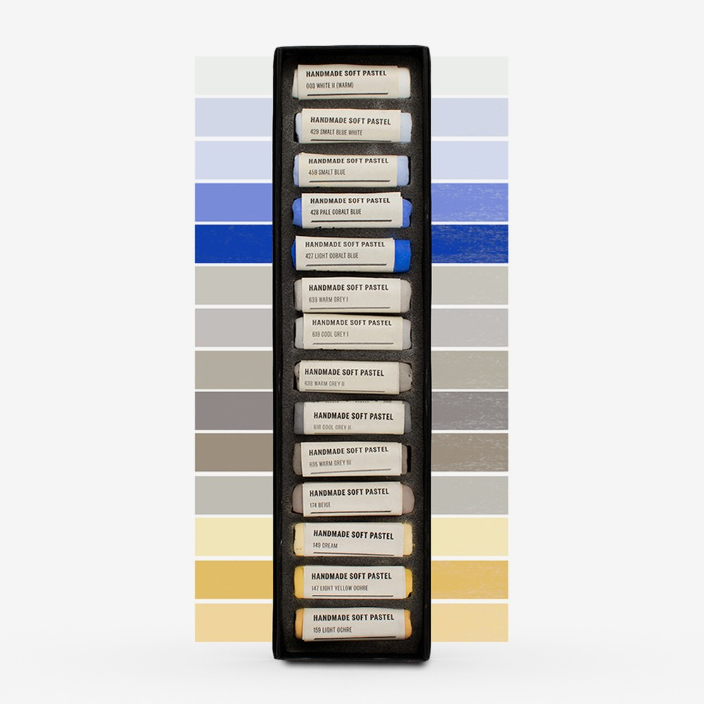 Jacksons : Handmade Soft Pastel : 14 Colours : Sky Set - Cloudy