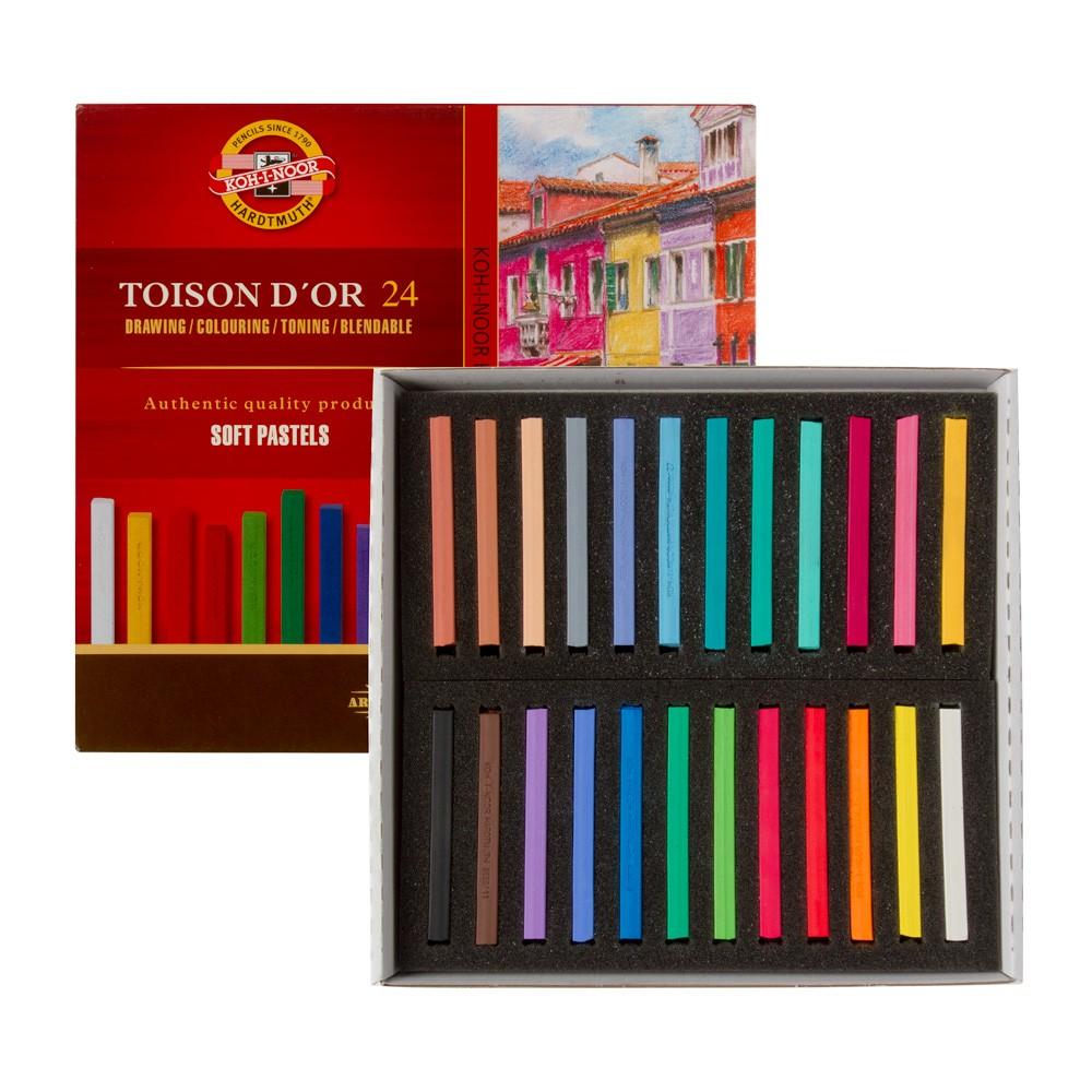 Koh-I-Noor : Toison d'Or : Square Soft Pastels : Set of 24