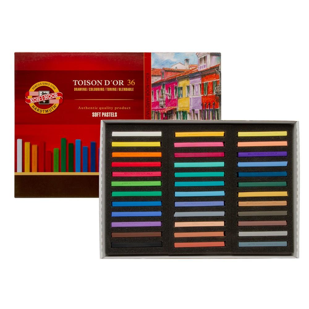 Koh-I-Noor : Toison d'Or : Square Soft Pastels : Set of 36