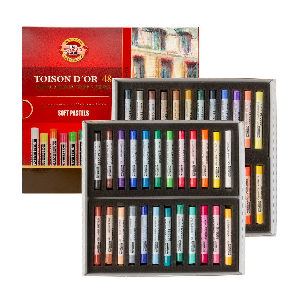 Koh-I-Noor : Toison d'Or : Soft Pastels : Set of 48