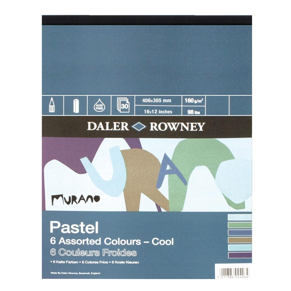 Daler Rowney : Murano : Pastel Pad : 12x16in : Cool Colours