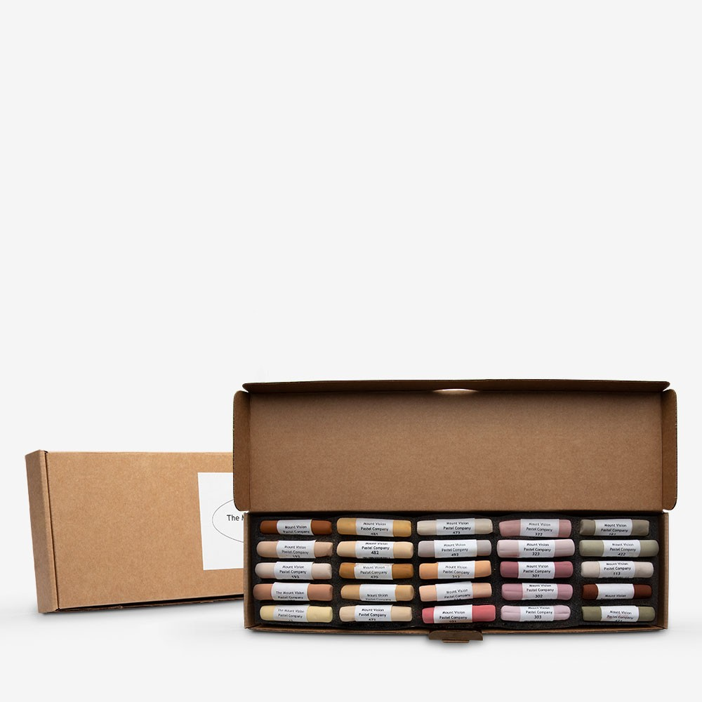 Mount Vision Soft Pastel : Set of 25 : Workshop Selection D