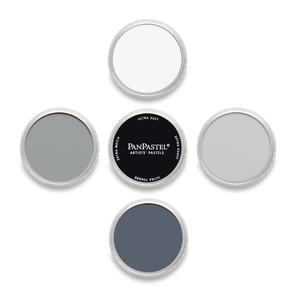 PanPastel : Set : Greys : 5 Colours