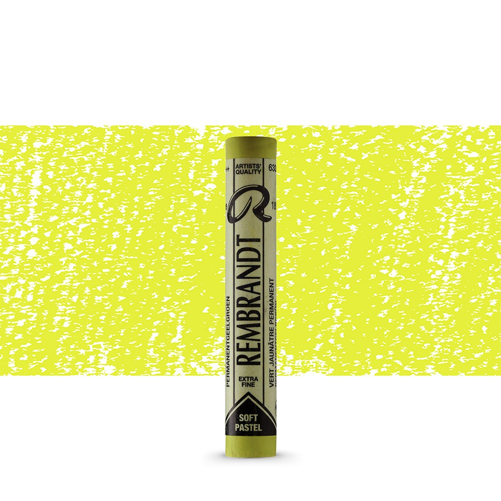 Talens : Rembrandt Soft Pastel : Permanent Yellow Green TR633.5