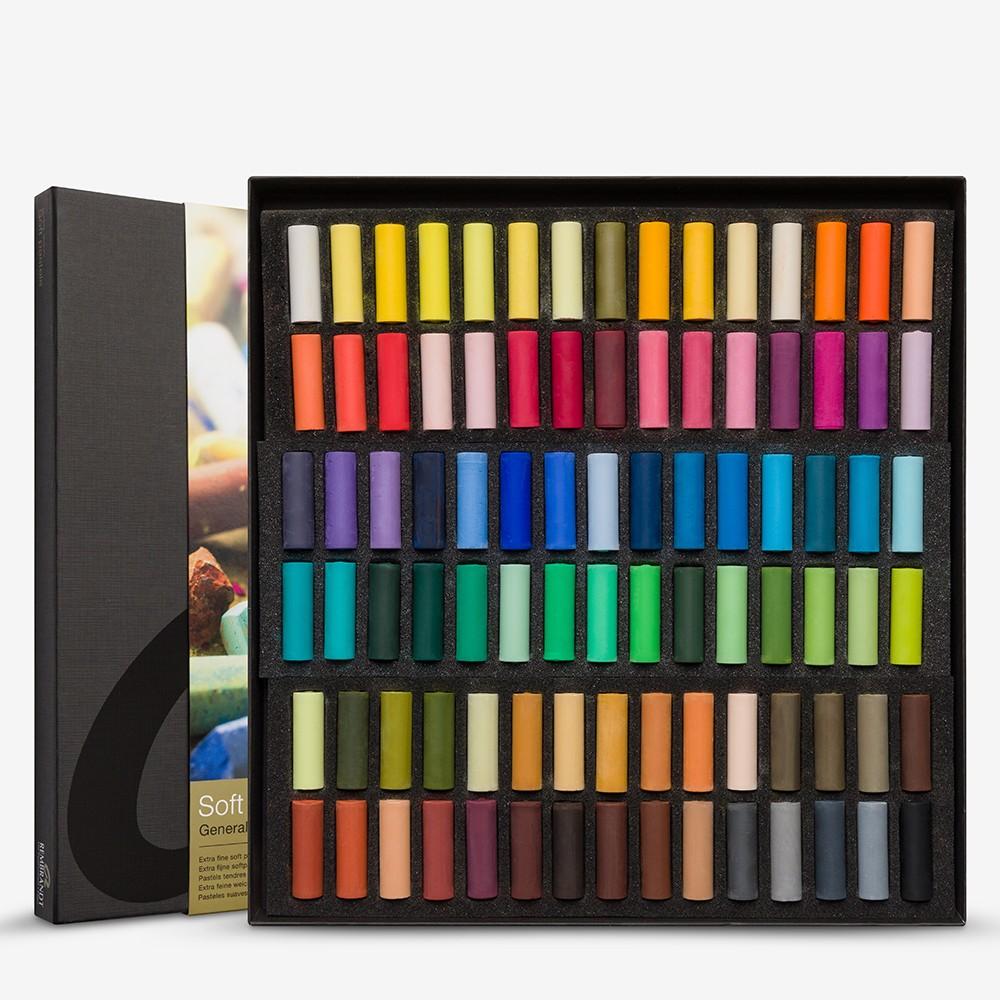 Talens : Rembrandt Soft Pastel : 90 Assorted 1/2 Stick Cardboard Box Set