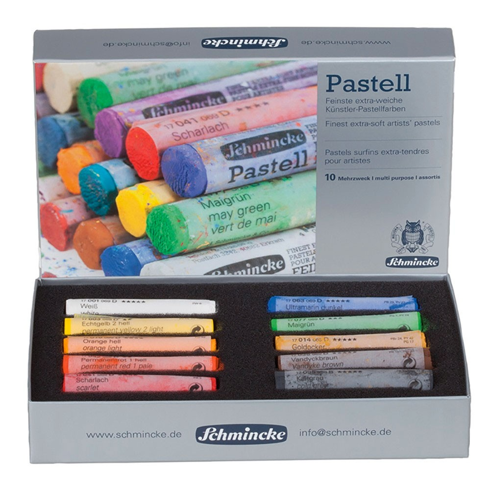 Schmincke Pastels : Starter Set of 10 Full Sticks : New Assortment
