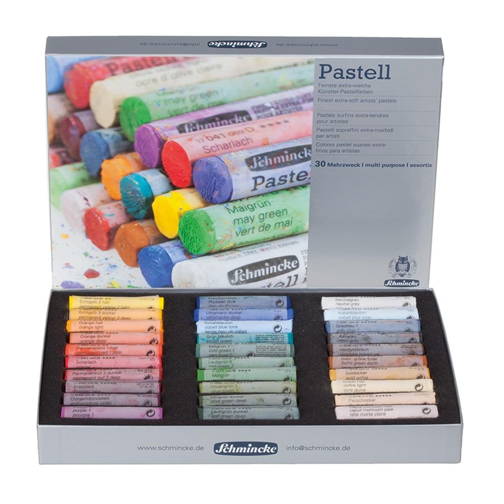 Schmincke Pastels : Set of 30 Full Sticks : New Assortment